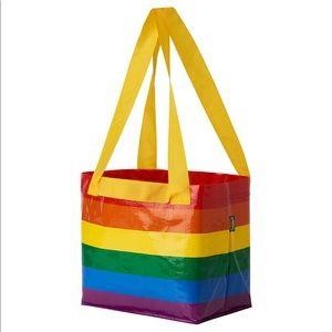 (2) IKEA STORSTOMMA LGBTQ Pride Reusable Tote Bag